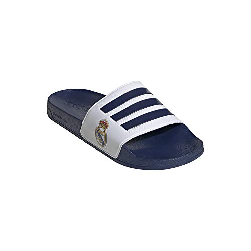 Adidas, ciabatte da bagno Real Madrid Adilette, Bianco (Blu scuro e bianco.), 44.5 EU