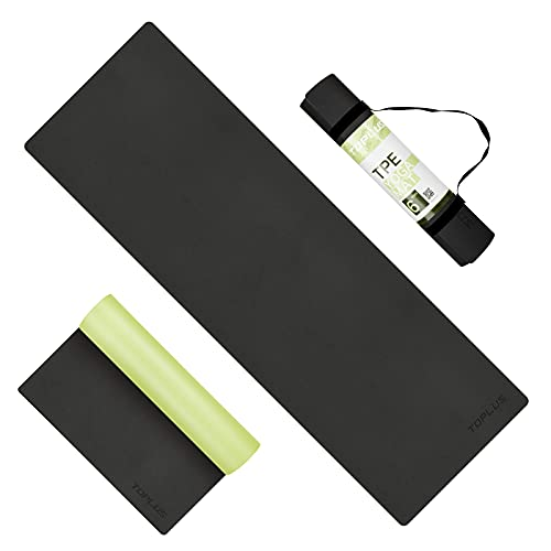 TOPLUS Yoga Mat - Upgraded Yoga Mat For Prenatal Yoga, Eco Friendly Non-Slip Exercise & Fitness Mat with Carrying Strap,...