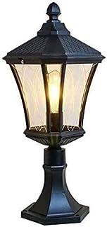 Mopoq Victoria Villa Pillar Lamp Rainproof and Rustproof Vintage Metal E27 Post Light Aisle Column Headlight Exterior Wall...