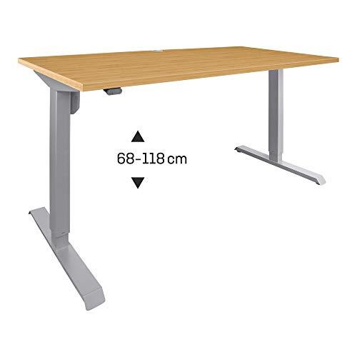 STIER Elektrisch Höhenverstellbarer Schreibtisch 100x80cm Buche