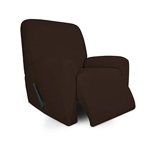Easy-Going - Copridivano reclinabile in tessuto jacquard morbido, antiscivolo, per bambini, animali domestici, cani e gatti (reclinabile, cioccolato)