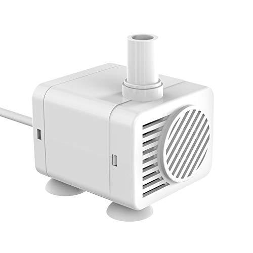 WDM - Dispensador de agua para animales de compañía, bomba de agua silenciosa CC, bomba de agua sin escobilla, 5 V, baja tensión de seguridad, bomba de agua sin fugas