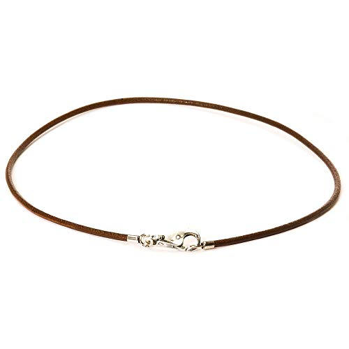 Trollbeads Leather Necklace, Brown, 45 cm / 17.7 inch