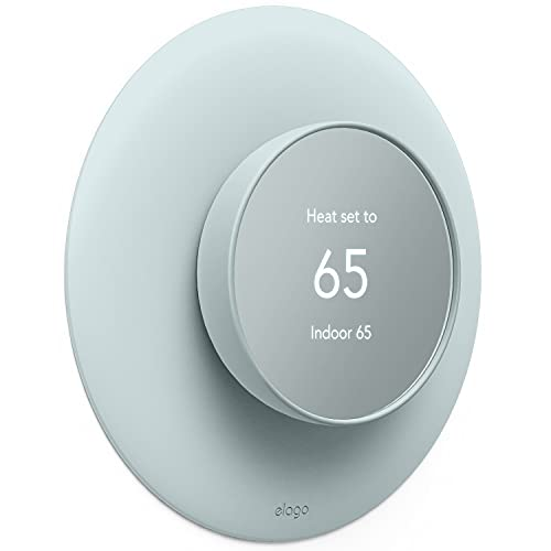elago Wall Plate Cover Plus 2 Compatible with Google Nest Thermostat 2020 - Durable Polycarbonate Material, Easy Installation, Complementary Design, Perfect Fit (Green)