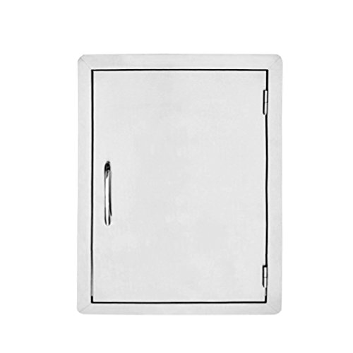 Stanbroil Stainless Steel Single Vertical Access Door, 17-Inch by 24-Inch