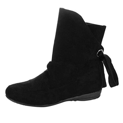 Luckycat Botas Zapatos Moda Mujer Botas tacón Alto Botas Encaje hasta el Tobillo Zapatos...