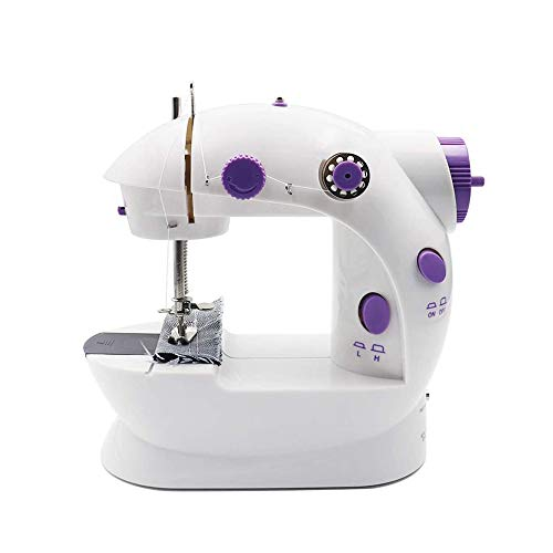 For Sale! QIYUE Mini Sewing Machine, Household Handheld Machine, Needlework Kit/Quick Repair DIY Clo...