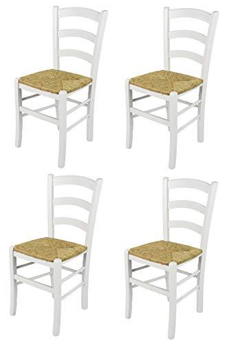 Tommychairs - Set 4 sillas Venezia para Cocina y Comedor, Estructura en...