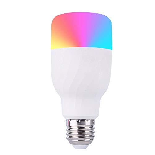 Lampadina Intelligente a LED WiFi Dimmable B22 Lampadina Multicolore Compatibile con Alexa, Echo, Google Home e IFTTT (nessun hub Necessario), Lampadina a 9W RGB + CW Cambia Colore,E27RGB+CW