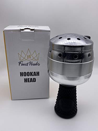 Finest Header® – Einzigartiges Shisha Kopf Set mit integrierten Molassefänger – Phunnel Kopf mit Smokebox – Tabak Sieb – Silikon-Halterung