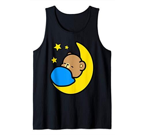 sueño celestial luna estrellas Leche y Mocha oso (él) Camiseta sin Mangas