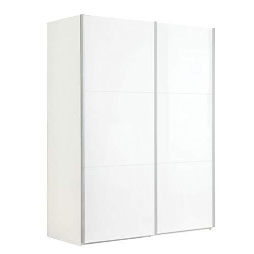 Composad Armadio a Due Ante scorrevoli, Metallo, Laccato Bianco 304, Dua