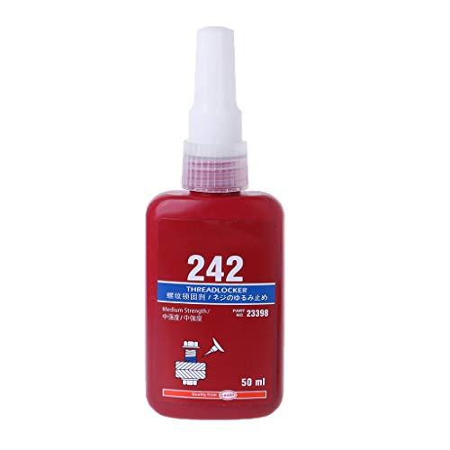 Junlinto, 1pc 50ML 242 Sellado de Rosca Tornillo de Pegamento Azul Adhesivo anaeróbico Azul