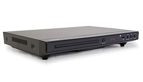 Denver DVH-1245 Multi Region/All Region & Upscaling DVD player 1080p With Display, HDMI, USB & Built-In Dolby Digital Surround Sound Decoder