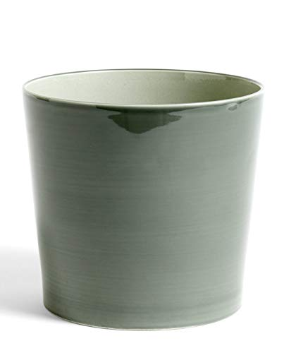Botanical Family bloempot XL H 20cm/Ø 22cm staubgrün/Keramik