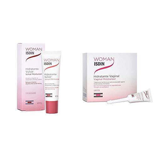 ISDIN Woman PACK: Crema Hidratante Vulvar, 30gr + Hidratante Vaginal, 12 Monodosis