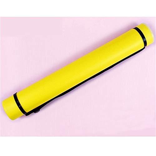 Tubo Portaplanos PláStico Extensible, 6 Colores Ajustable Cuadrado Fuerte Portable Titular del Cartel de Desplazamiento Arco Flecha aljaba (Color : Yellow)