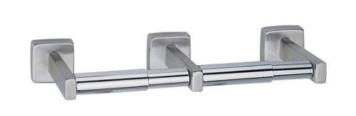 Bobrick 686304Edelstahl Oberfläche montiert doppelte Rolle Toilettenpapier Spender, hellen Oberfläche, 12–1/5,1cm Breite x 5,1cm Höhe