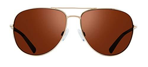 Revo Men's Tarquin Sunglasses, Gold Frame, Golf