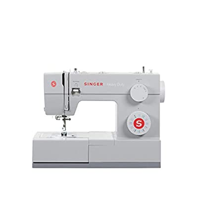 SINGER Heavy Duty 4423 Machine with 23 Built-in Stitches-12 Decorative Stitches, 60% Stronger Motor & Automatic Needle Threader, Perfect for Sewing All Types of Fabrics with Ease