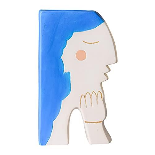 Clacce Nordische Kerami Deko Übertopf Für Zimmerpflanzen, Sukkulenten, Kakteen, Kunstpflanzen Mädchen Desktop Home Art Dekoration Handgefertigte kleine Keramik Deko Blumenvasen