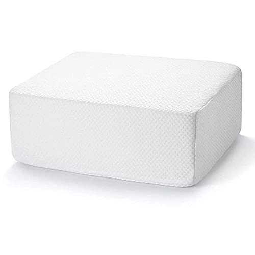 Pillow Square for Side Sleepers, Cube Bed for Head, The Cube Pillow Ergonomic Memory Foam Pillow Supportive Head Cushion Thicker and Firmer Pillow (Small)