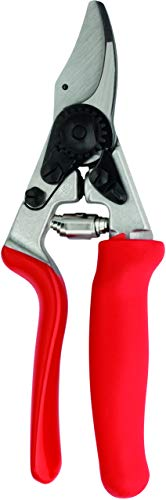 Felco Pruning Shears (F 17) - High Performance Swiss Made Left-Handed One-Hand Garden Pruner with Steel Blade