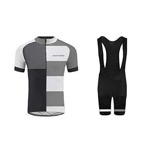 Uglyfrog 2019 Pro Team Summer Unisex Men Cycling Jersey Set Bib Shorts Bamboo Fiber Cycling Jersey
