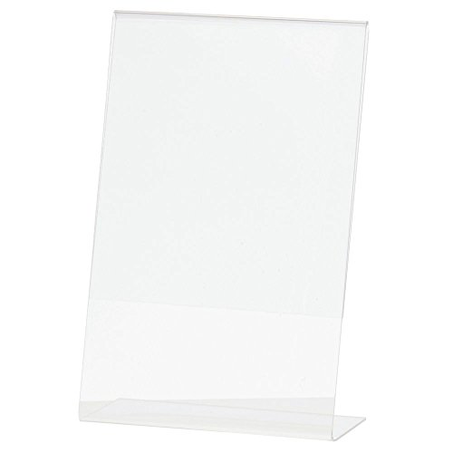 "Acrylic Sign Holder with Slant Back Clear Acrylic Vertical Picture Frame Ad Frame- 5 1/2""L x 8 1/2""H"