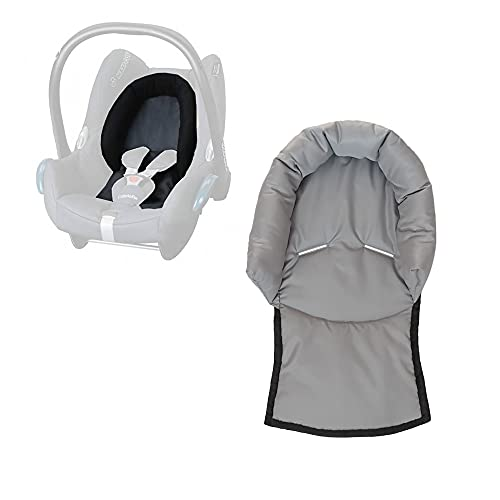 Aveanit Compatible with Maxi Cosi Baby Infant Car Seat Travel Neck Head Support Pillow Hugger Universal (Gray - Waterproof)