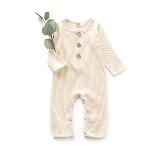 Simplee - Mono de manga larga para bebé, unisex, neutro, para bebés de 0 a 18 meses - Bronce - 12 -18 meses