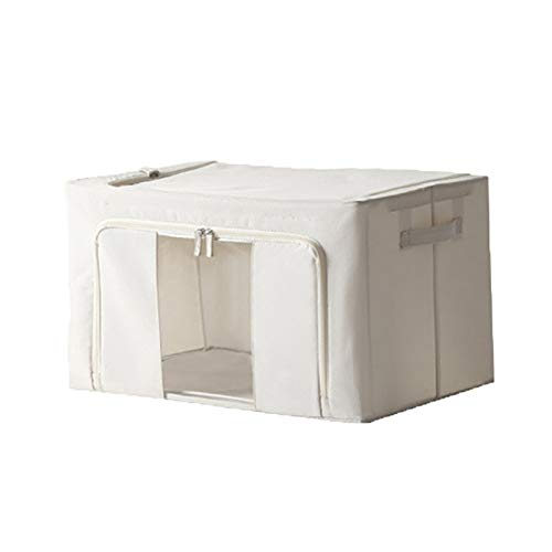 AZYJBF Bolsa de Almacenamiento Caja de Almacenamiento Organizadora para el Hogar Plegable con Cremalleras y Ventana Transparente, cestas de Almacenamiento a Prueba de Polvo para Ropa Edredones