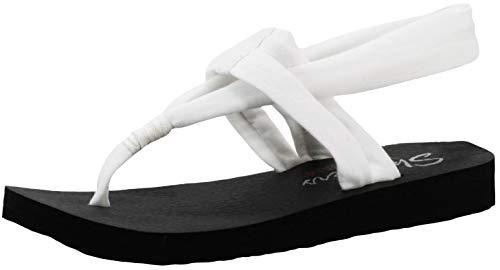 Skechers Women's Meditation Studio Slingback Yoga White Flip-Flop 7 M US