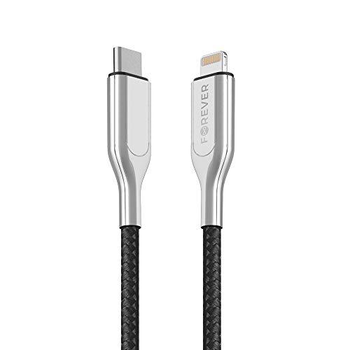 FOREVER Cable USB C a Lightning de 150 cm de Largo, Certificado...