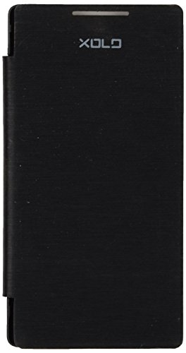 iCandyTM Synthetic Leather Flip Cover for Xolo A500S - Black