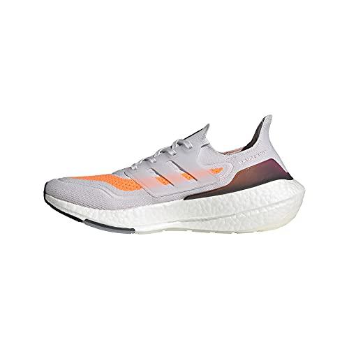 adidas Men's Ultraboost 21 Running Shoes, Dash Grey/Dash Grey/Screaming Orange, 13