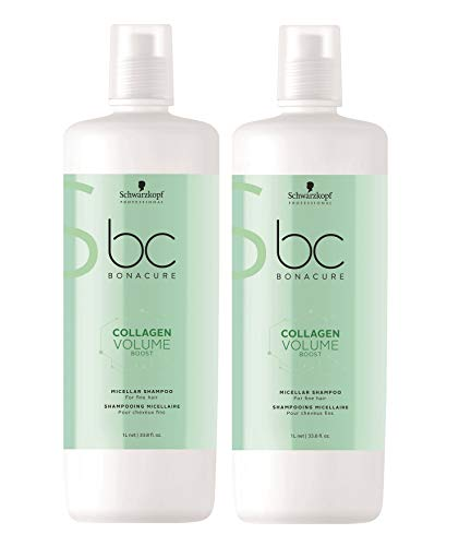 Schwarzkopf 2 er Pack Schwarzkopf BC Collagen Volume Boost Micellar Shampoo 1000 ml