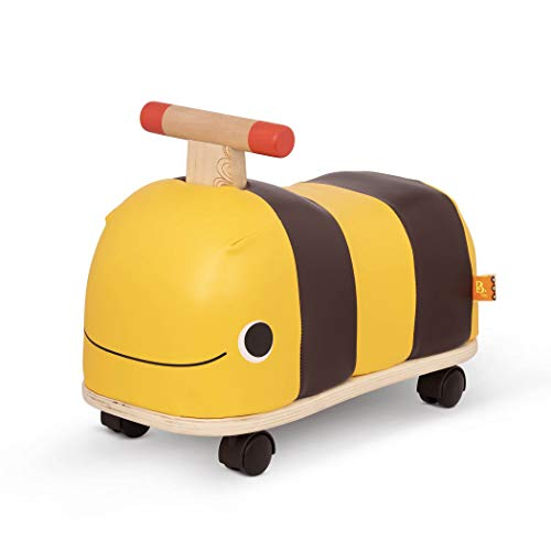 B. toys by Battat BX1779Z Rutschauto aus Holz – Rutscher Biene auf Rollen für Kinder und Babys, Kinderfahrzeug, Rutschfahrzeug, Babyrutscher, Spielzeug ab 18 Monaten