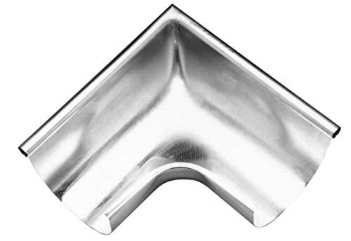 Rinnenwinkel Titanzink für Dachrinne 250-er, 8-tlg, NW-105 Innen- & Außeneck (Außen-Eck)