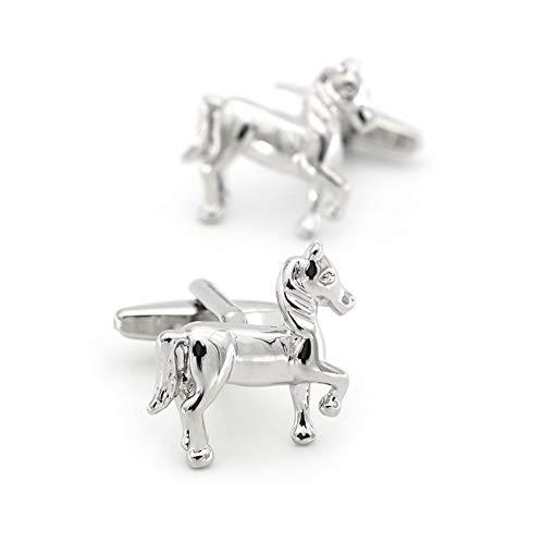 YUNGYE Running Horse Cuff Hommes Lien Matériel Cuivre Couleur Argent Homme Boutons de Manch