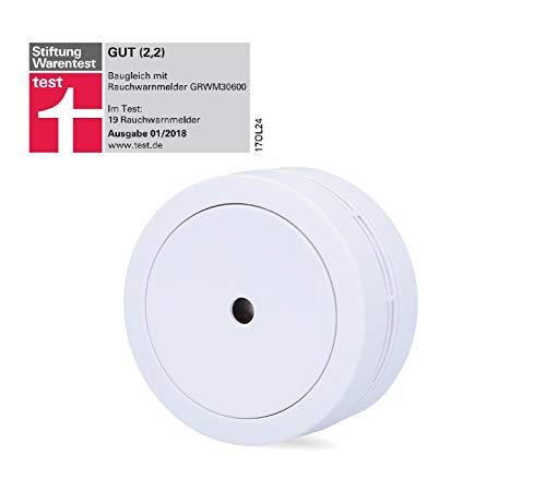UNITEC Mini Rauchwarnmelder | VdS Rauchmelder | kompakt 70mm Durchmesser | Stiftung Warentest | 85 db | DIN EN 14604 | VdS 3131 | 10 Jahre Betriebszeit