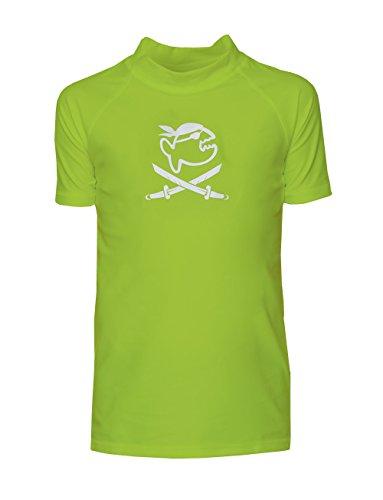 iQ-Company Kinder UV 300 Shirt Kids Jolly Fish, Neon-Green, Gr. 128/134