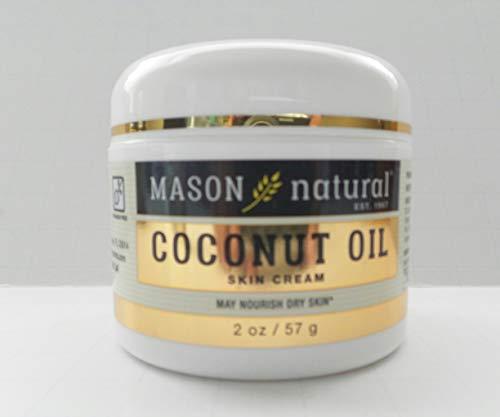 MASON 2 Oz Natural Coconut Oil Beauty Cream Crema Skin Care Natural Hydratant