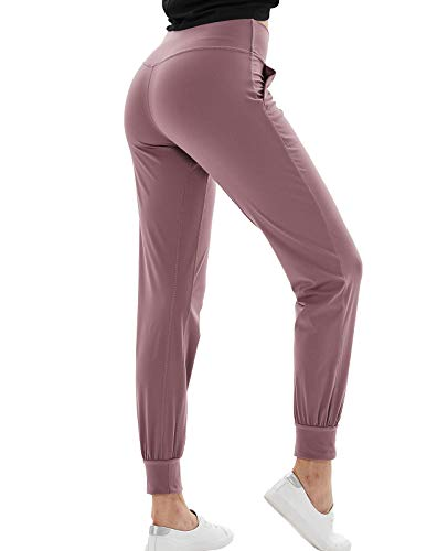 TOKY Joggers for Women high Waist Yoga Workout Sweatpants with Pockets Women's Lounge Pants Lilac Pink