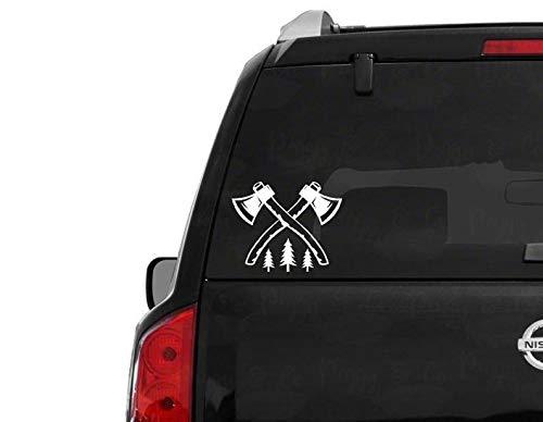 CELYCASY Axt Autoaufkleber Auto Fenster Aufkleber Auto Fenster Aufkleber Axt Clipart Aufkleber Auto Fenster Aufkleber Vinyl Axt Werfen