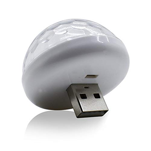 Tree-on-Life LED USB Mini Bola mágica de cristal activada por voz Led Etapa Bola de discoteca Proyector Luces de fiesta Flash Luces de DJ
