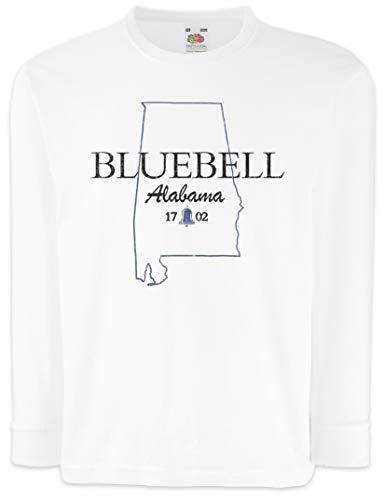 Urban Backwoods Bluebell Alabama Camisetas de Manga Larga T-Shirt para Niños Niñas