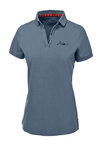 Pikeur Damen Polo-Shirt DUNYA NG Größe 34, Farbe Smoked Blue