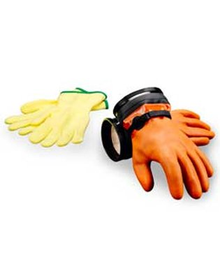 DUI Zip Gloves Maximum Dexterity Dry Suit Gloves with Liners (LG)