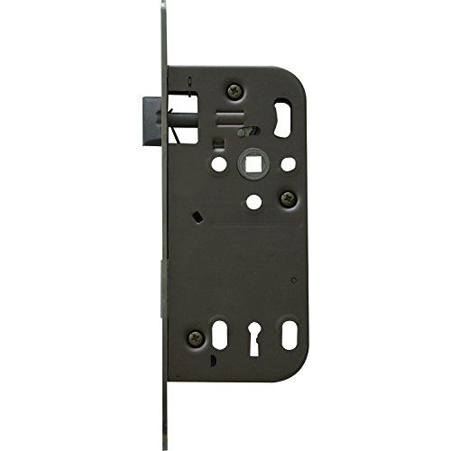 SECOTEC deur-insteekslot bontebaard m.2 sleutels Dorm. 50 mm, rond, zilverkleurig, 1 stuk